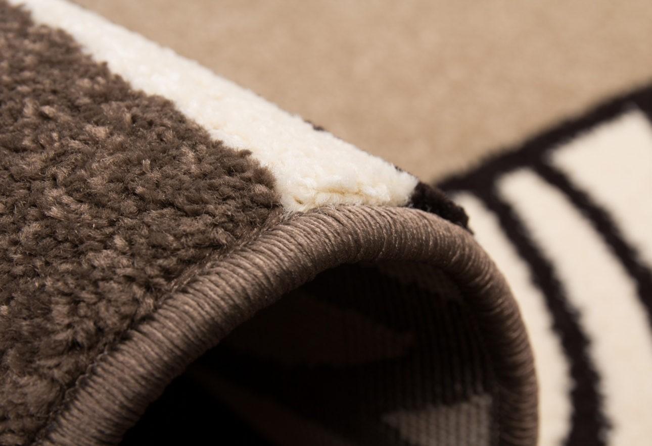 Tapis en polypropylène contemporain d'intérieur couleur brun ...