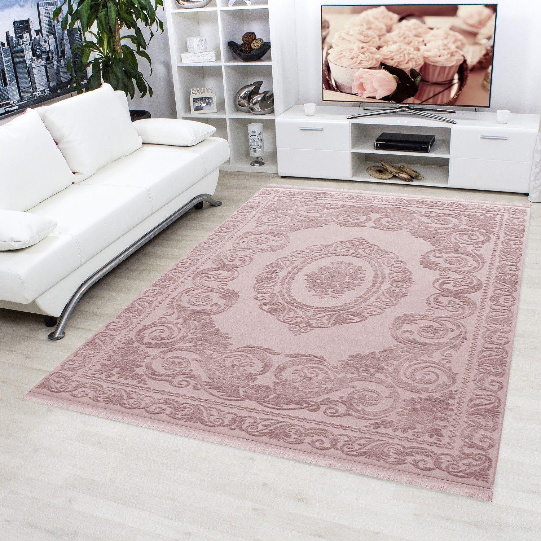 tapis rose violette style baroque acrylique haut qualite naturel brillant sencha 2 tapis beige. Black Bedroom Furniture Sets. Home Design Ideas