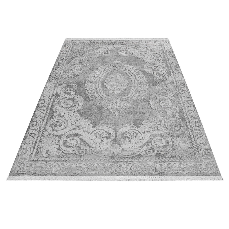 Tapis gris style baroque acrylique haut qualite naturel for Tapis shaggy avec canapés duvivier en solde