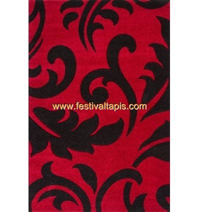 Tapis effet 3D design coloris roug et noir tapis pour salon, tapis salon design, tapis pour salon pas cher, tapis moderne salon, tapis de salon design, grand tapis salon, tapis salon moderne, tapis design