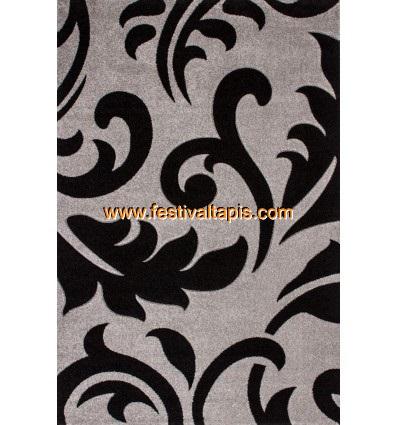 Tapis effet 3D design coloris gris et noir tapis pour salon, tapis salon design, tapis pour salon pas cher, tapis moderne salon,