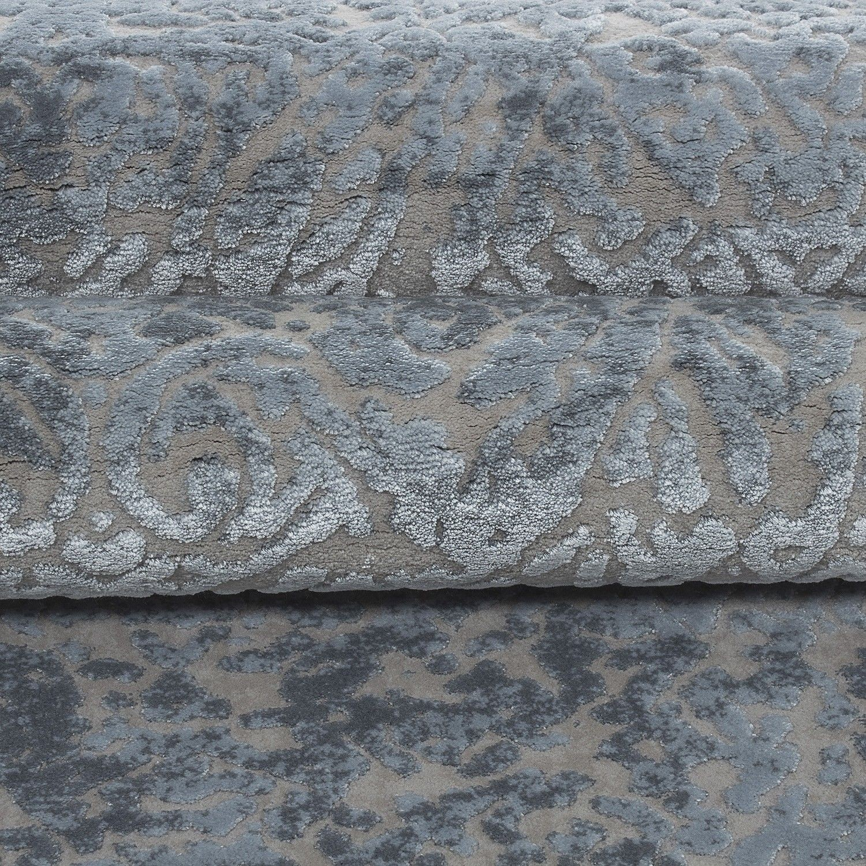tapis gris style baroque acrylique haut qualite naturel brillant sencha 13. Black Bedroom Furniture Sets. Home Design Ideas