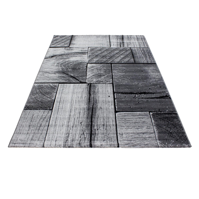 tapis tendance vintage noir gris madison 2. Black Bedroom Furniture Sets. Home Design Ideas