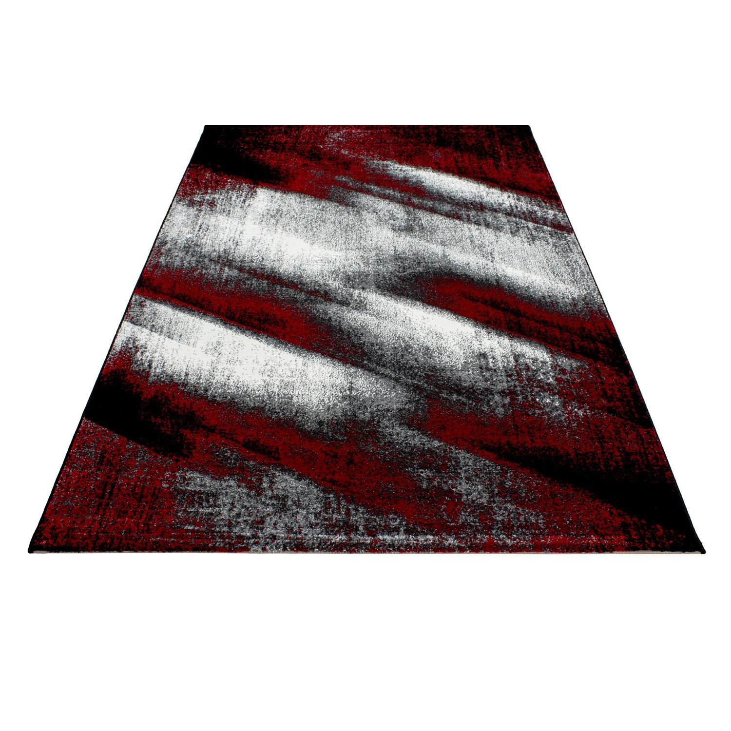 Tapis vintage rouge pour salon crystal for Tapis salon rouge