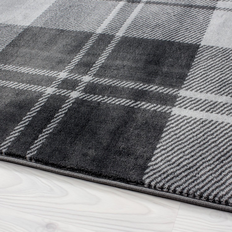 tapis design moderne coloris noir gris chic. Black Bedroom Furniture Sets. Home Design Ideas