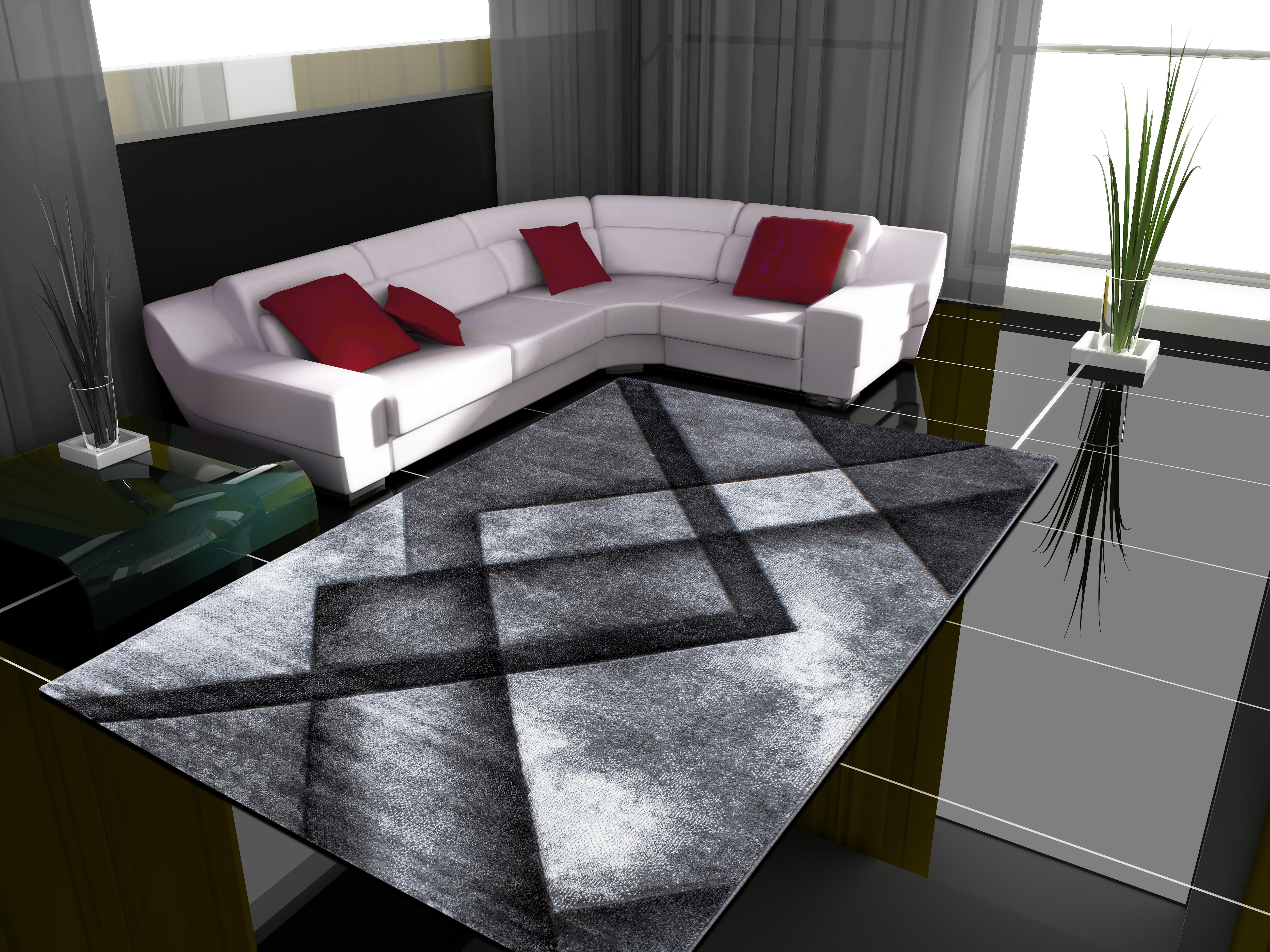 Tapis frisée effet 3D design moderne HARLEQUIN-2