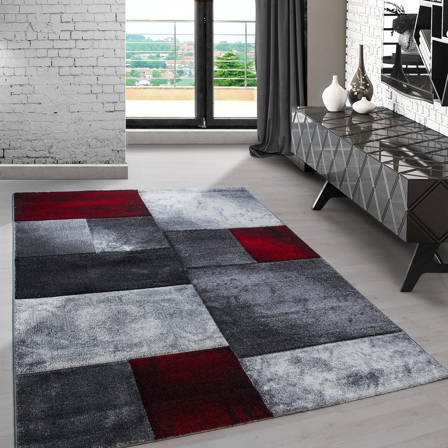 tapis rouge noir gris excellent tapis rouge gris noir with tapis rouge noir gris trendy large. Black Bedroom Furniture Sets. Home Design Ideas