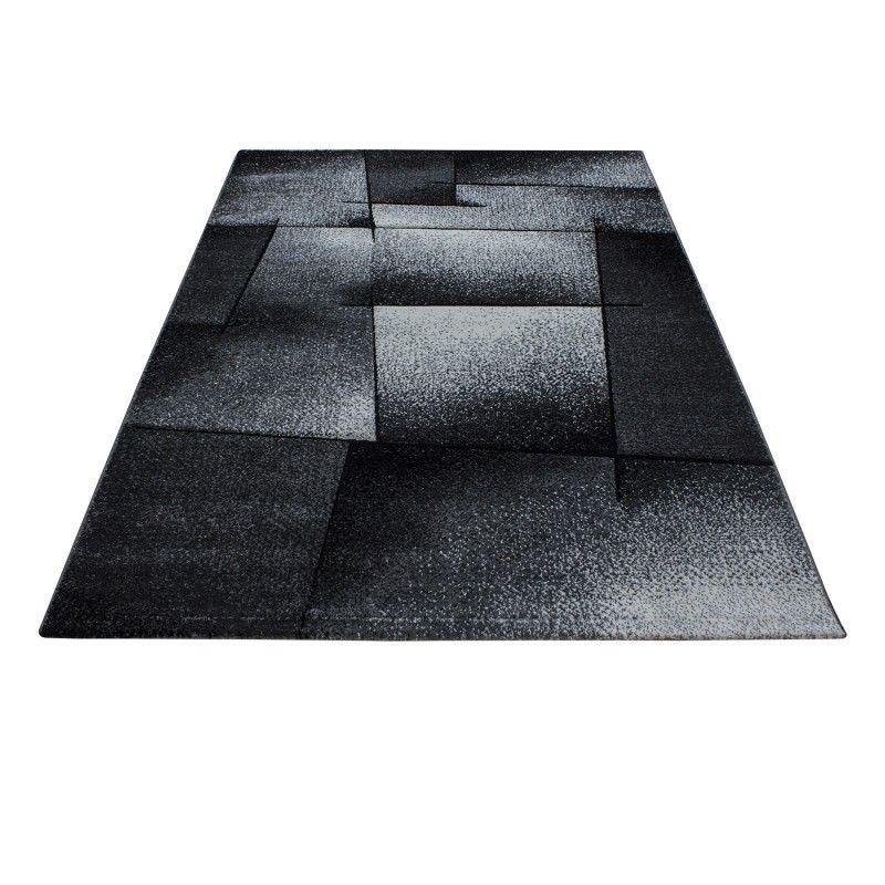 tapis frise effet 3d design moderne salon gris noir harlequin - Tapis Noir