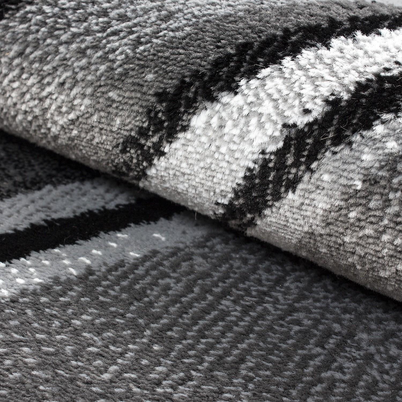 tapis tendance vintage noir gris madison. Black Bedroom Furniture Sets. Home Design Ideas