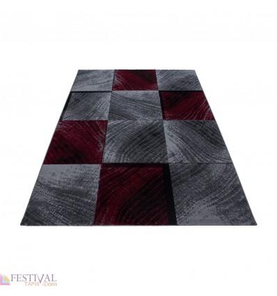 tapis rouge noir, tapis noir salon, tapis rouge et gris,tapis rouge design,tapis rouge moderne,tapis design,tapis salon
