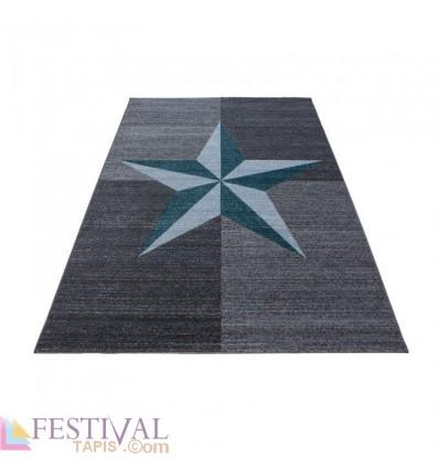 TAPIS,Tapis Design Étoile Motif Gris, tapis enfant, tapis star