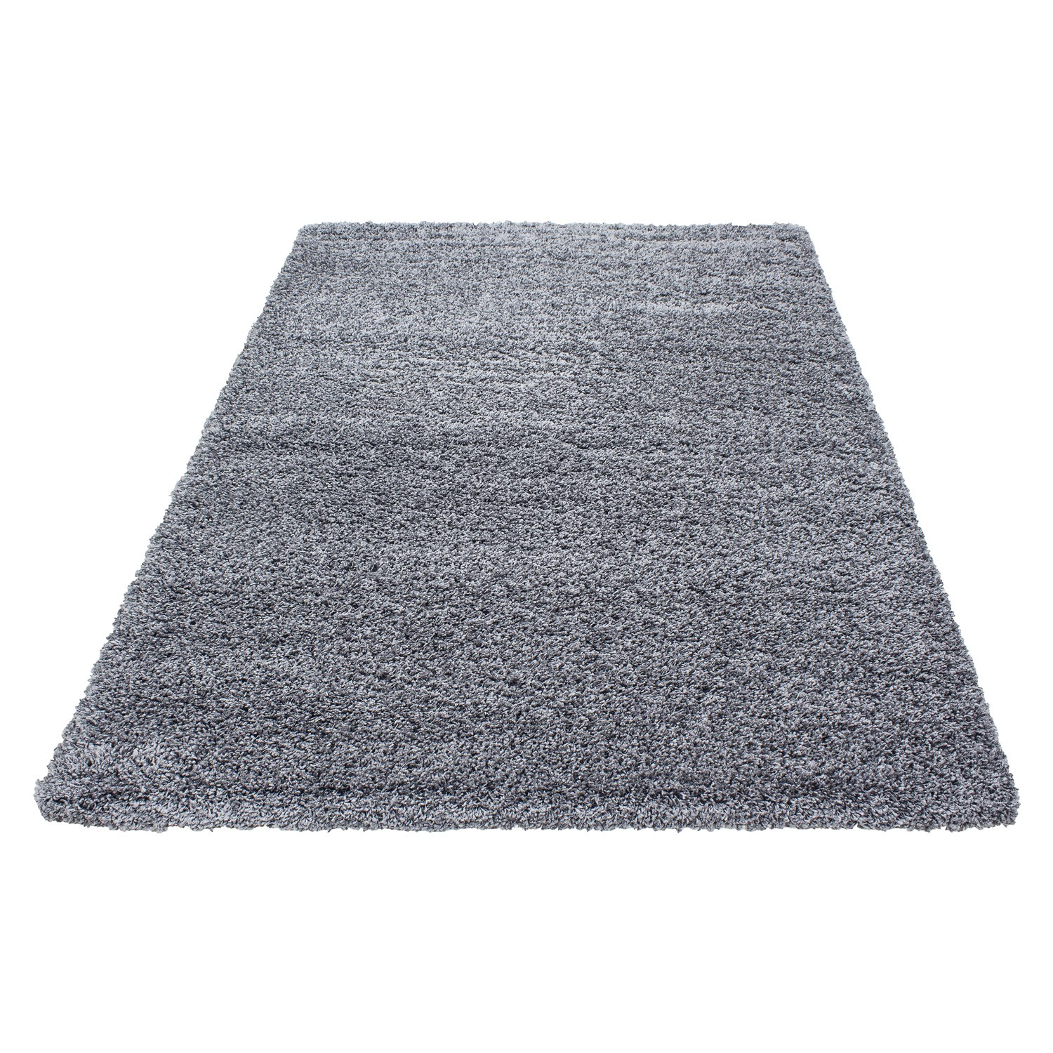tapis shaggy gris moderne tapis design uni en. Black Bedroom Furniture Sets. Home Design Ideas