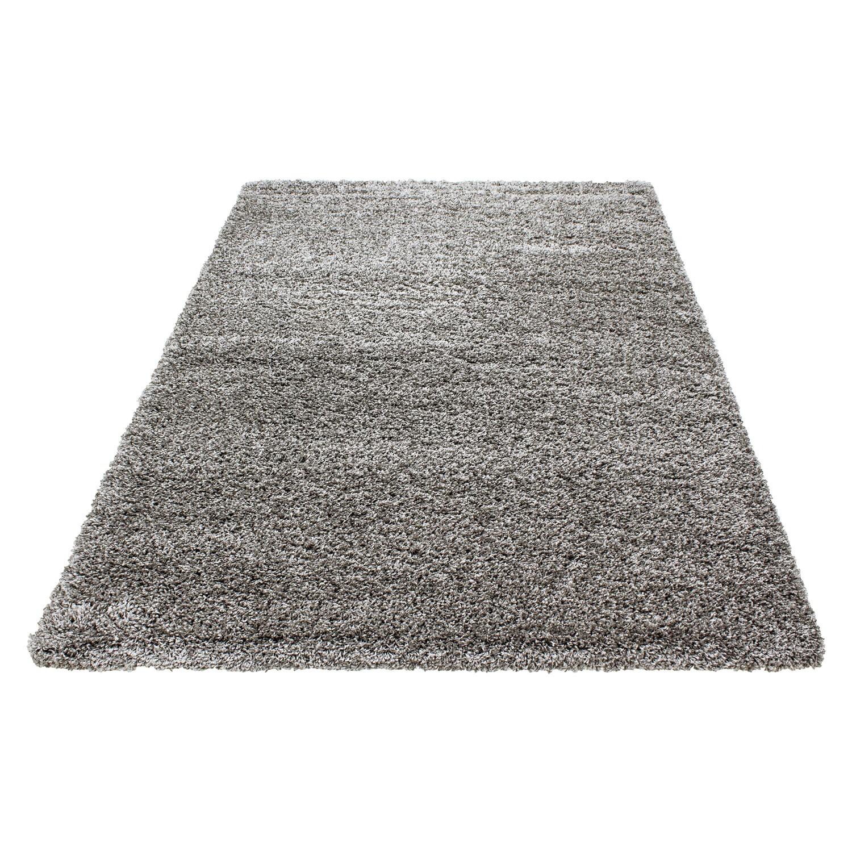 tapis shaggy taupe moderne tapis design uni en polypropylne vasco - Tapis Taupe