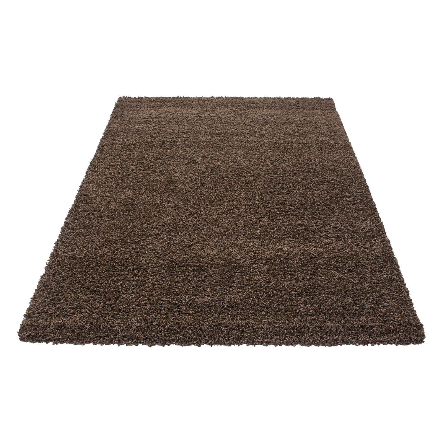 tapis shaggy brun moderne tapis design uni en. Black Bedroom Furniture Sets. Home Design Ideas