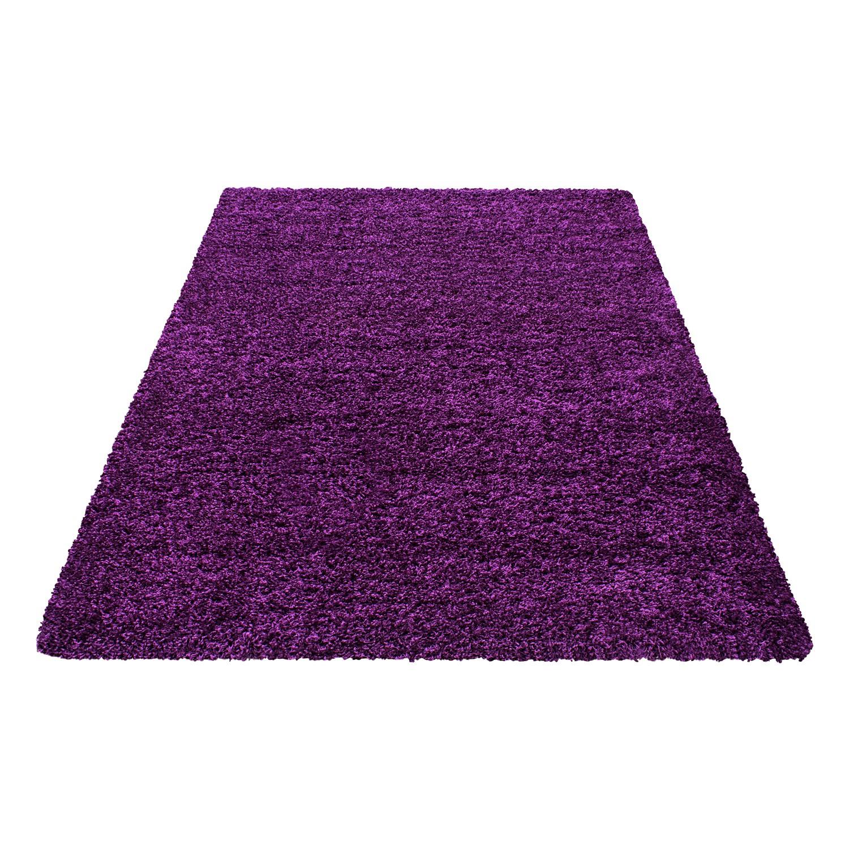 tapis shaggy lila moderne tapis design uni en polypropylne vasco - Tapis Shaggy