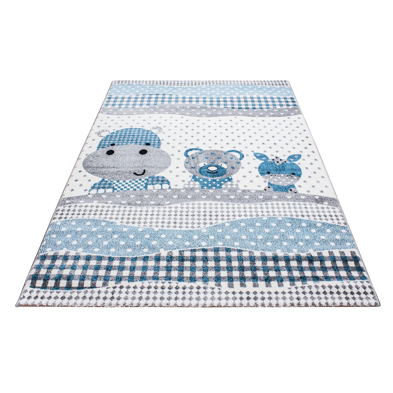 tapis pour chambre enfants kids blue gris. Black Bedroom Furniture Sets. Home Design Ideas
