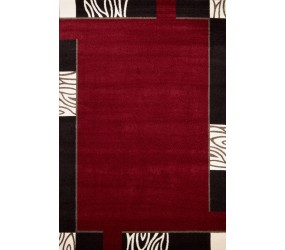 Tapis contemporain d 39 int rieur rouge lord Beaux tapis contemporains