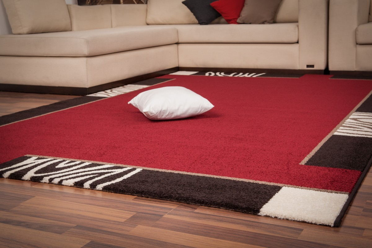 Tapis Contemporain D 39 Int Rieur Rouge Lord