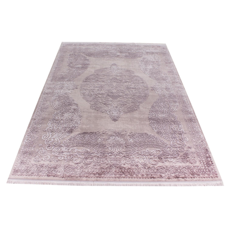 Tapis rose violette style baroque acrylique haut qualite naturel ...