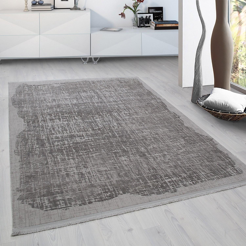 tapis gris moderne tapis salon moderne pas cher tapis moderne en laine tapis - Tapis Gris