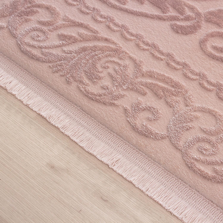 tapis rose violette style baroque acrylique haut qualite naturel brillant sencha 11. Black Bedroom Furniture Sets. Home Design Ideas