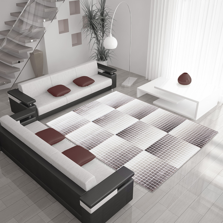 tapis de salon en polypropyl ne violette neo pas cher. Black Bedroom Furniture Sets. Home Design Ideas