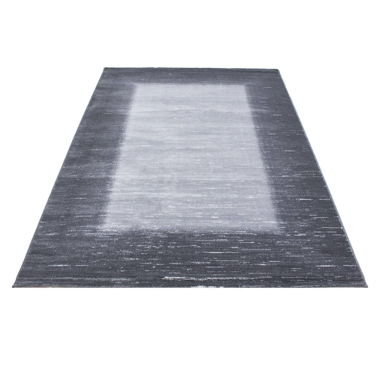 tapis de salon en polypropylne gris noir neo - Tapis Noir