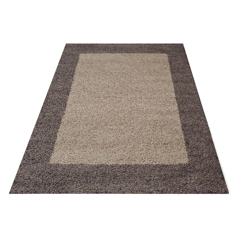 tapis shaggy taupe moderne tapis design en polypropyl ne vasco. Black Bedroom Furniture Sets. Home Design Ideas