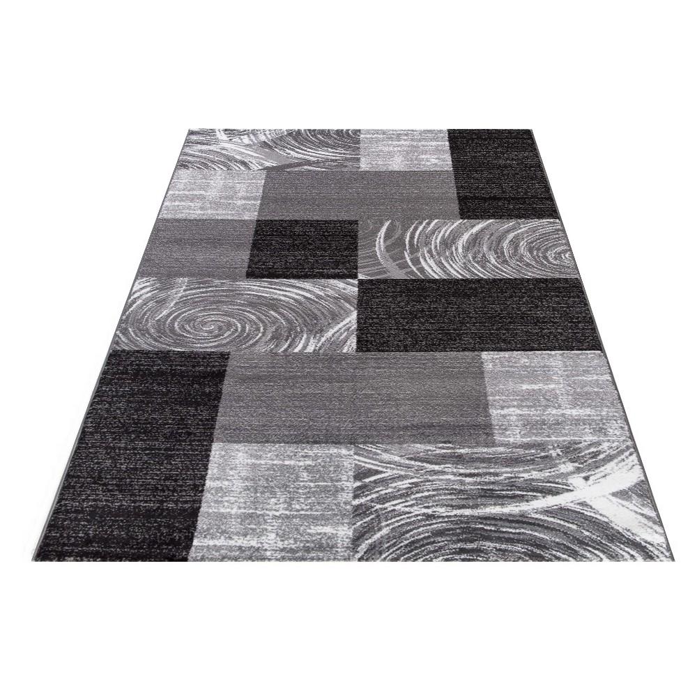 tapis tendance vintage noir madison. Black Bedroom Furniture Sets. Home Design Ideas