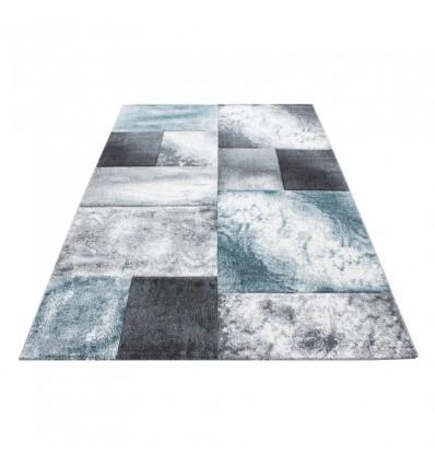 Tapis frisée effet 3D design moderne blue gris HARLEQUIN
