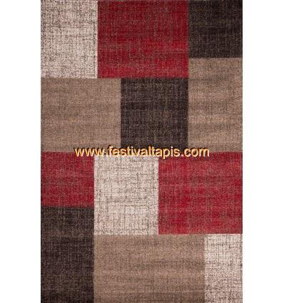Tapis Patchwork ton de rouge, marron, beige et blanc tapis design, tapis design rouge, tapis rouge design, design tapis, tapis
