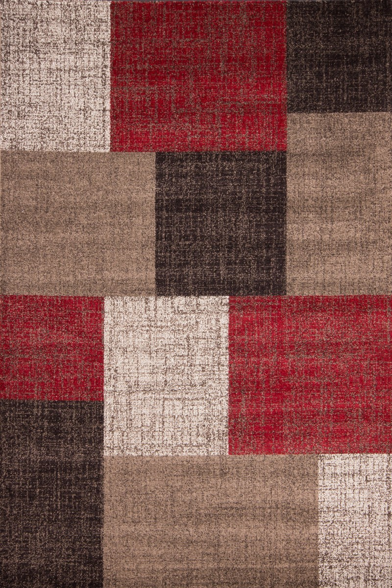 tapis patchwork ton de rouge marron beige et blanc lord. Black Bedroom Furniture Sets. Home Design Ideas