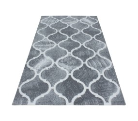 Tapis de salon en polypropylène light gris Neo