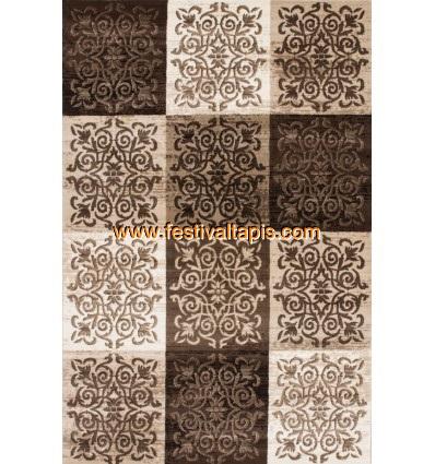 Tapis vintage moderne coloris brun et beige tapis beige, tapis beige pas cher, tapis shaggy beige, tapis rond beige, tapis shagg