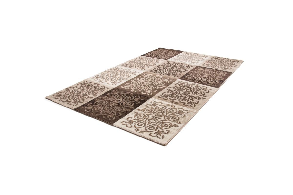 tapis vintage moderne coloris brun et beige papilio. Black Bedroom Furniture Sets. Home Design Ideas