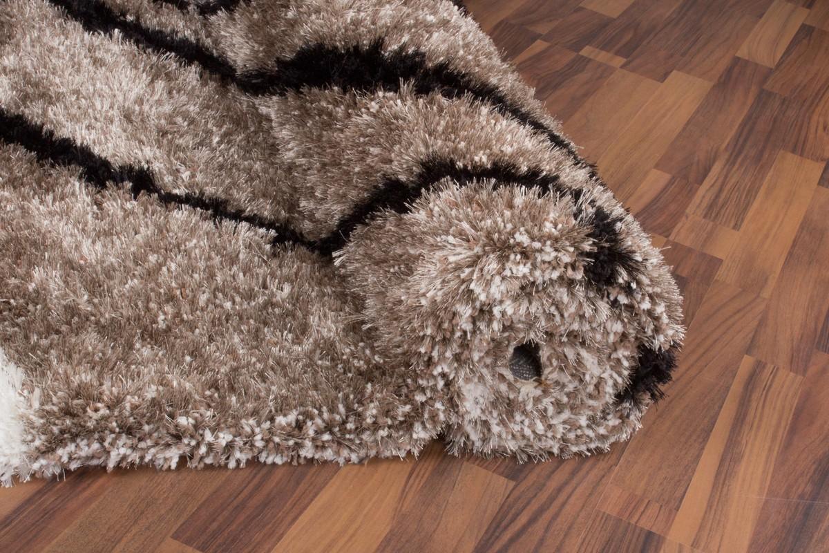 tapis shaggy design motif beige tr s doux nobel. Black Bedroom Furniture Sets. Home Design Ideas