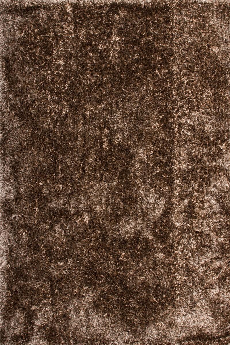 tapis shaggy fait main coloris marron malibu - Tapis Marron