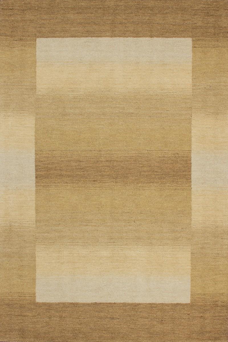 Tapis 100% laine fait à la main coloris beige gamma
