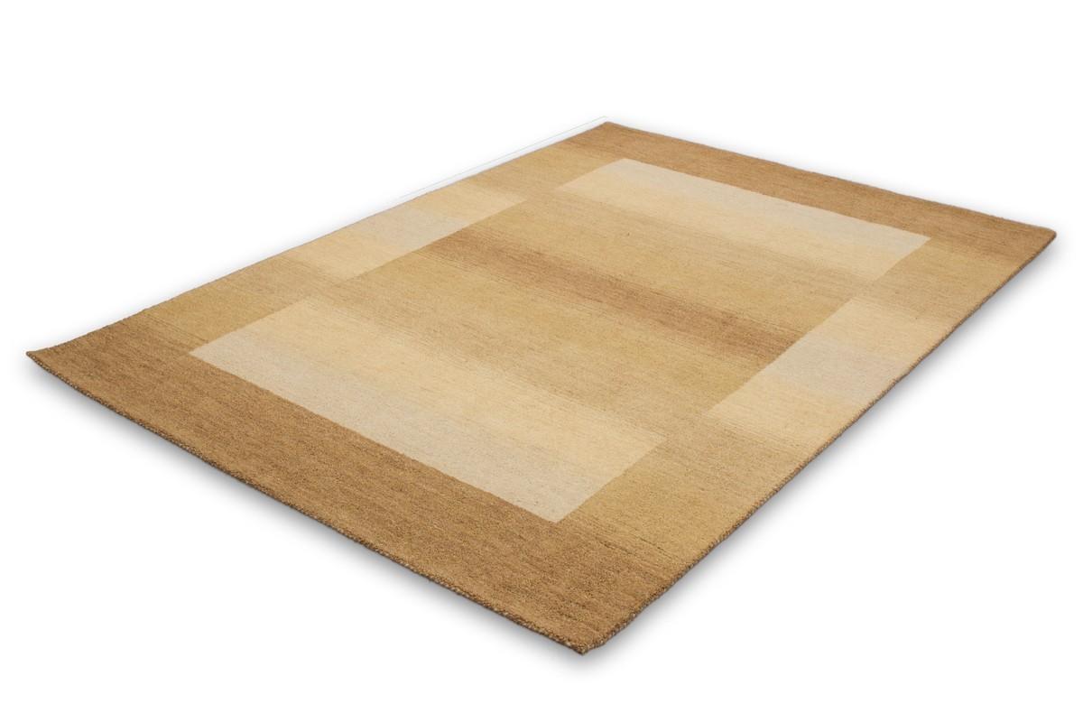 Tapis 100 laine fait la main coloris beige gamma for Tapis rond beige pas cher