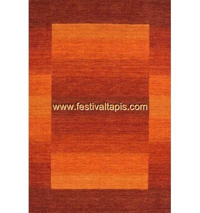 Tapis 100% laine fait à la main coloris orange ,tapis noir, tapis noir et blanc, tapis noir et blanc pas cher, tapis pas cher no