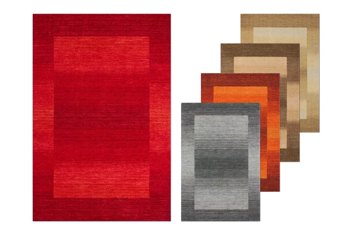 Favori Tapis 100% laine fait à la main coloris orange GAMMA RP63