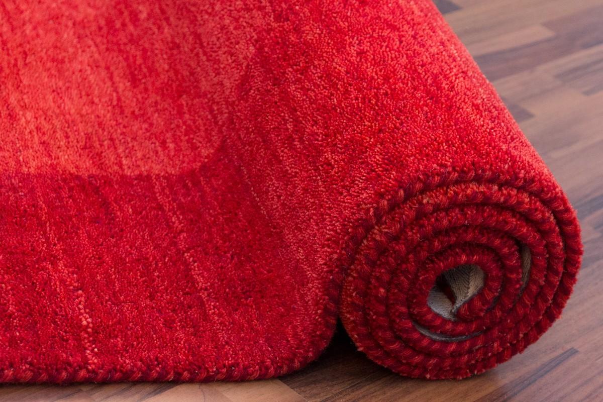 Favori Tapis 100% laine fait à la main coloris rouge GAMMA RP63