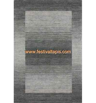 Tapis 100% laine fait à la main coloris gris ,tapis noir, tapis noir et blanc, tapis noir et blanc pas cher, tapis pas cher noir