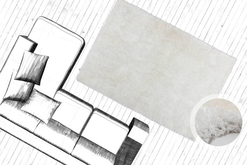 Tapis fait main shaggy blanc style - Tapis shaggy blanc pas cher ...