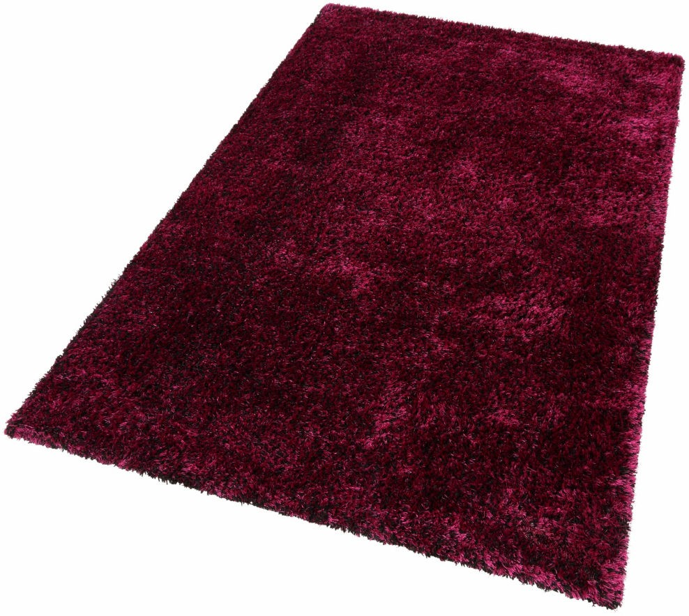 tapis fait main shaggy violet et noir style. Black Bedroom Furniture Sets. Home Design Ideas