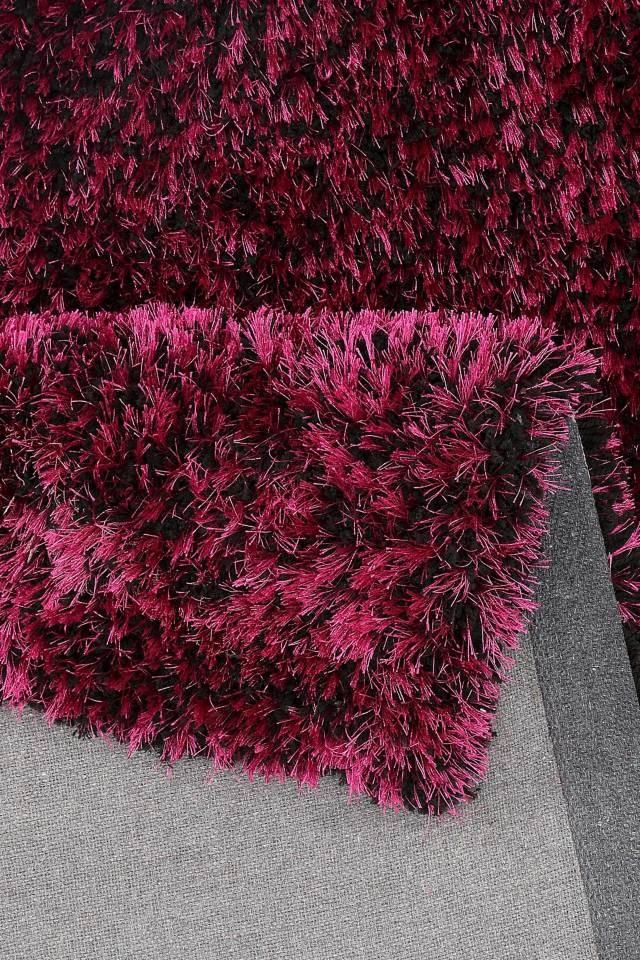 tapis fait shaggy violet et noir style