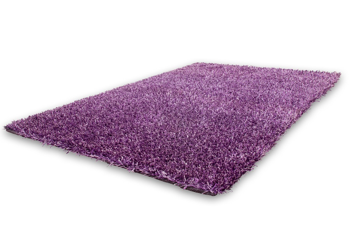 Tapis Shaggy Tiss La Main Coloris Mauve Design