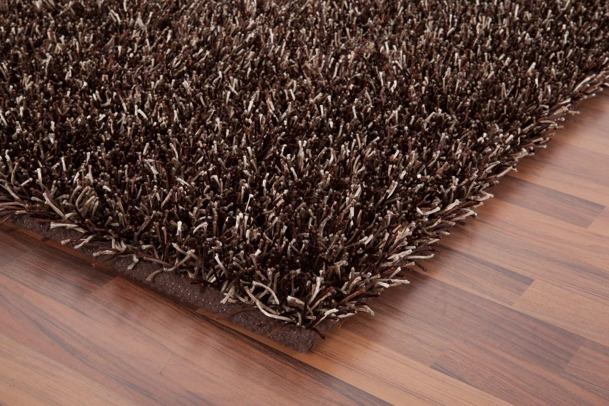 tapis shaggy tiss la main coloris marron design. Black Bedroom Furniture Sets. Home Design Ideas