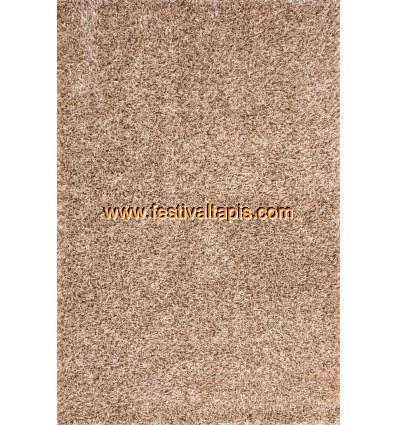 Tapis Shaggy tissé à la main coloris brun clair tapis en laine, tapis laine pas cher, tapis laine moderne, tapis en laine pas ch