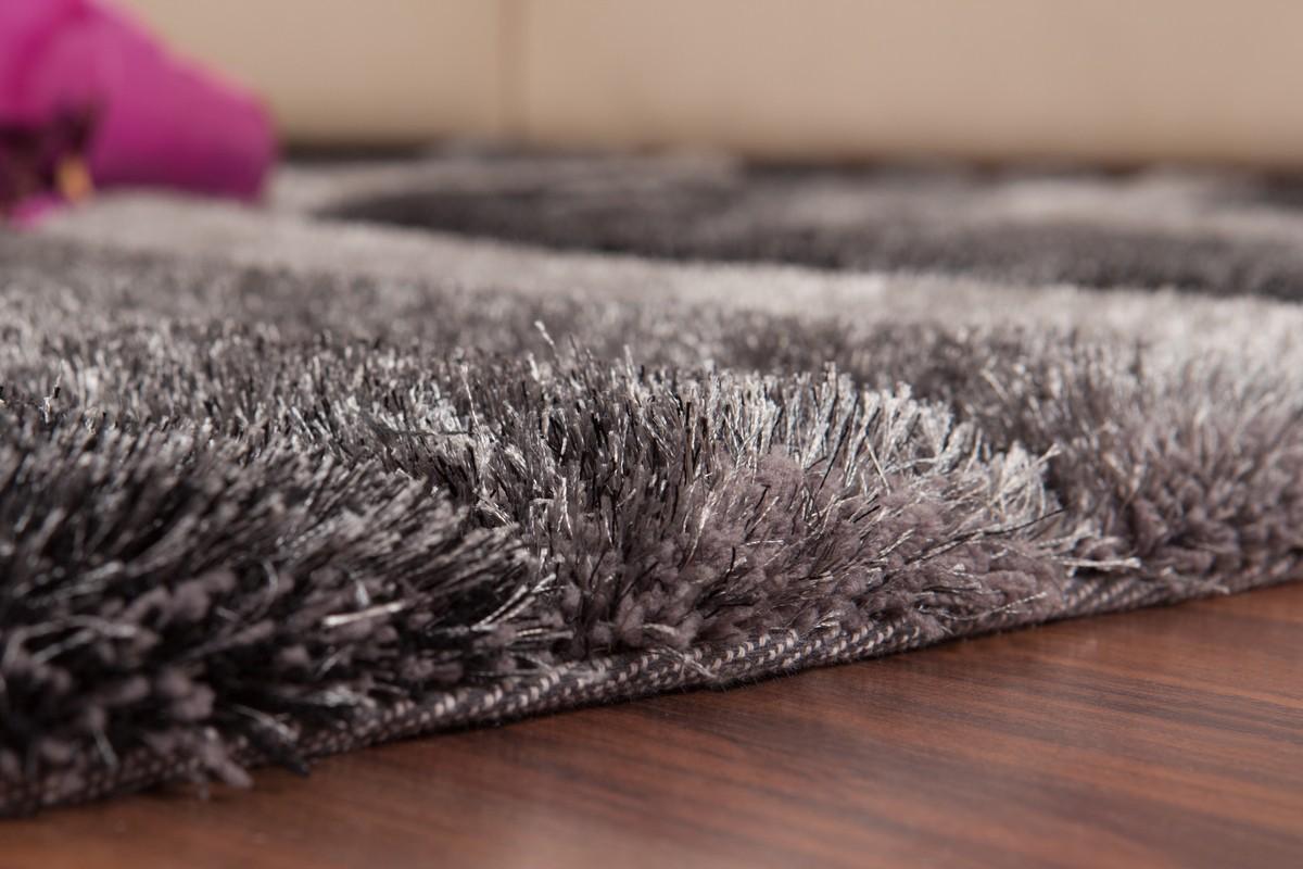 Tapis shaggy effet 3d coloris gris motif carr modele - Tapis carre pas cher ...